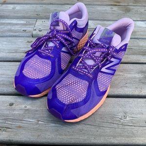New Balance Running Sneakers Purple Orange Girls 3